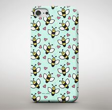 Cute Bee Pattern Pink Love Heart Collage Sweet Honey Nature Phone Case Cover