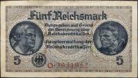 Nazi Germany banknote - 5 funf reichsmark - year 1938-1945 - Third Reich