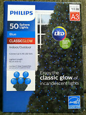 Philips Classic Glow 50 Blue LED Smooth Sphere String Lights Indoor/Outdoor
