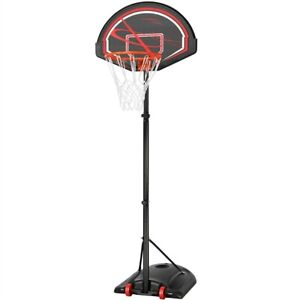 7-9ft Portable Basketball Hoop and Stand Height Adjustable Basketball Hoop