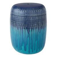 """Blue Teal Glazed Ceramic Garden Stool, 17"""", Better Homes & Gardens"""