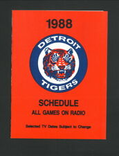 Detroit Tigers--1988 Pocket Schedule--Mayo Smith Society