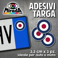 ADESIVI STICKERS BOLLINO TARGA BANDIERA INGLESE ROYAL AIR FORCE AUTO MOTO PLATE