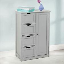 4 Drawer Bathroom Cabinet Storage Unit Wooden Chest Cupboard Grey Door Draw New