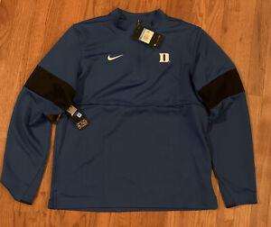Mens Duke Blue Devils Nike Coaches Sideline Therma Half-Zip Jacket Medium NWT