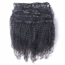 Hot Queen Clip In Human Hair Extensions Virgin Brazilian Hair Afro Kinky Curly