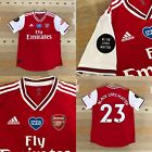 Arsenal Adidas Player Issue Match Issue Home  Football Shirt Size 6 BLM,NHS