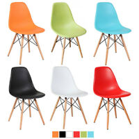 Mid Century Premium ABS Eiffel Dowel Leg DSW Style Dining Side Set of (2) Chair