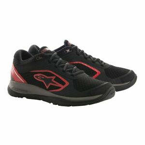 Alpinestars Alloy Motorcycle Motorbike Casual Riding Shoes Trainers - Black Red