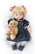 16-Inch Dolls Jeans Lovely Baby Girl for Children Vinyl Gifts Toy Xmas Gift
