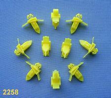 (2258) 10x moulures CROCHETS pour toyota/LEXUS Klip pour moulures jaune