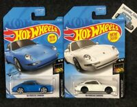2019 Hot Wheels '96 Porsche Carrera Lot of 2 M Case Blue/ White Nightburnerz B43