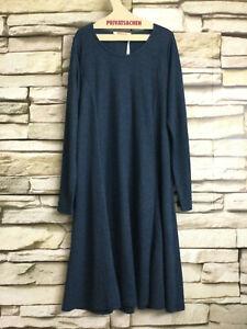 cocon.commerz PRIVATSACHEN ATMEER Kleid  aus WOLLSWEAT in grünblau - Größe  3