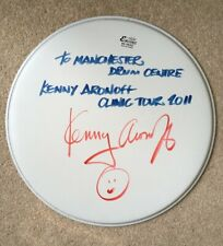 "Kenny Aronoff Signed Autograph Drum Skin, 14"" Remo Head with COA"
