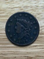 1829 Coronet Head Large Cent Coin 1c, 5/26/20, Free Shipping