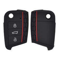 Silicone Car Remote Key Cover For VW Polo Golf 7 MK7 Tiguan SEAT Ateca Leon