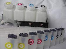 Roland Mimaki Mutoh Bulk Ink System 4 Bottle 8 Cartridge Continuous Ink Supply