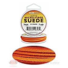 Dark Orange 3 Yds. Micro-Fiber Faux Leather Suede Lace 2.74m Beading Cord Spool