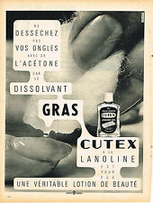 PUBLICITE ADVERTISING 034   1960    CUTEX    dissolvant gras