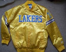 Original STARTER MINNEAPOLIS L.A. LAKERS Satin Jacket YELLOW MEDIUM
