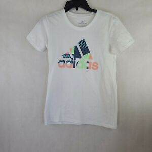 Adidas Womens Fitness Cotton Graphic T-Shirt Top Size XS WS-328