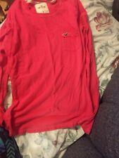 Hollister Medium Ladies Pink Tee Shirt Long Sleeve