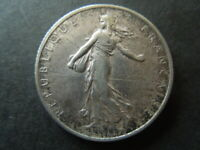 J2391 FRANCE  1918 SILVER  2  FRANC La Semeuse  Sower HIGH  GRADE