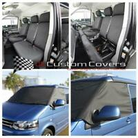VW T5 TRANSPORTER KOMBI FRONT SEAT COVERS & FROST WRAP BLACK (2003 ON) 118 103