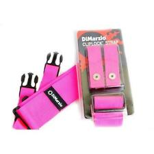"""DiMarzio DD2200PK 2"""" Nylon ClipLock Strap Pink w/Free Picks (x3) 6633340001010"""