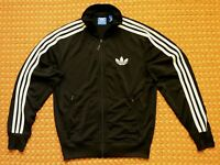 Adidas Originals Black with three white stripes sweatshirt, full zipper, Small