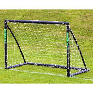 Samba Football Soccer Match Black Goal Post (6' x 4') + Net, Clips - 1 Goal