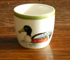 A hand painted duck eggcup for Lincolnshire Naturalists' Trust