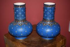 ANTIQUE RARE PAIR OF  STONEWARE VASES METTLACH VILLEROY AND BOCH