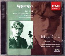 MENUHIN: BACH 3 Violin Concerto Partita ENESCO MONTEUX CD Yehudi Pierre
