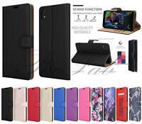 Genuine Case For LG K20 2019 LMX120EMW Premium Leather Wallet Flip Phone Cover