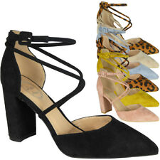 Womens Ladies Pointy Sandals Party Wedding Strappy New Bride Court Heel Shoes Sz