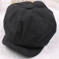 Elegant Classic Plain Flat Cabbie Newsboy Gatsby Cap Men Ivy Hat Golf Driving FT