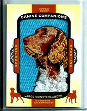2017 U.D.Goodwin Champions Canine Companions Patch/Relic # Cc30 Lg.Munsterlander