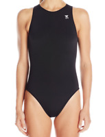 TYR Womens Black Destroyer Water Polo One Piece Swimsuit Sz 30 7308