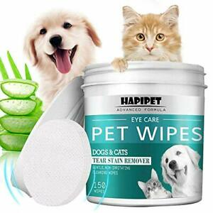 150 Pads Pet Eye Wipes, Eye Tear Stain Remover Wipes for Cats & Dogs, Eye Crust.