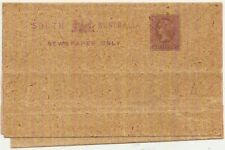 South Australia QV 1/2d violet postal stationery wrapper mint unused 1880s