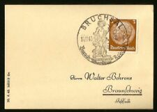 1940 WWII NAZI GERMANY POSTMARK AT BRUCHSAL PALACE BAROQUE & ROCOCO VERSAILLES
