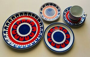 Western Airlines - Fiesta Pattern - 5-Piece Place Setting 1970's