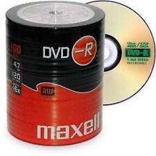 Maxell DVD-R 100 pacco DISCHI VUOTI REGISTRABILI DVD 16x 4.7 GB 120 minuti UK Venditore
