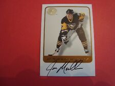 2001/02 HOCKEY GREATS OF THE GAME AUTOGRAPH JOE MULLEN PITTSBURGH PENGUINS