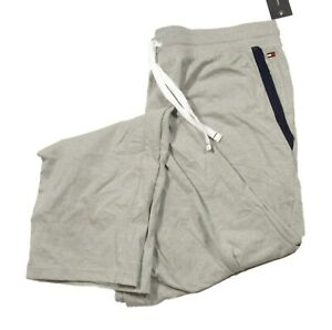 Tommy Hilfiger Sleepwear Men's Gray Contrast Pocket Trim Lounge Pants