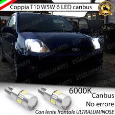 COPPIA LUCI DI POSIZIONE 6 LED CANBUS 6000K FORD FIESTA MK5 NO ERROR