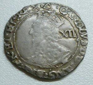 Charles I Hammered Tower Shilling 1639/40 MM Triangle S2799 - about as struck!