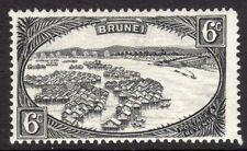 Brunei 1924 black 6c multi-script mint SG69