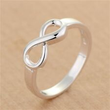 Fashion Chic Silver Filled Wedding Engagement  Ring Women Jewelry Gifts Sz 6-10